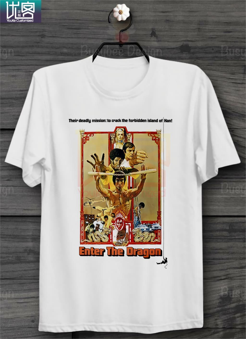 Bruce Lee en el Dragón cartel Ideal regalo Unisex T camisa B420