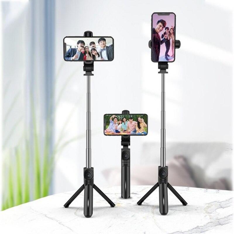 Xt15 selfie vara portátil sem fio bluetooth selfie varas tripé leve desktop smartphone tripé para youtube viver