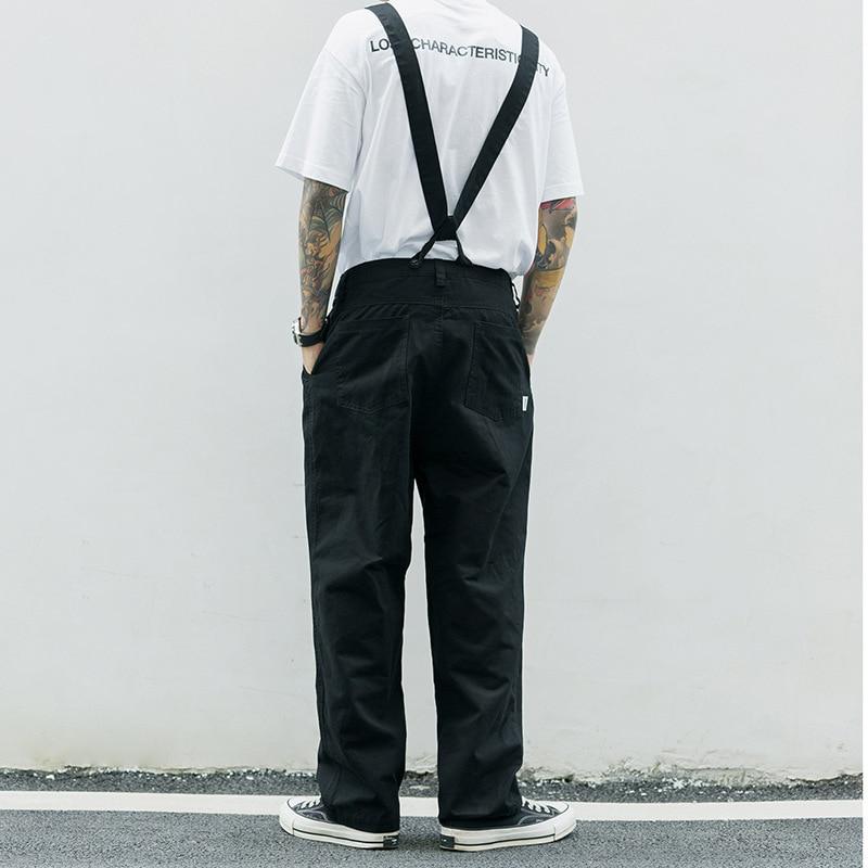 EWQ/Mono con tirantes para hombre, pantalones casuales holgados de hip hop con tirantes de color liso, novedad de 2020, 9Y2155
