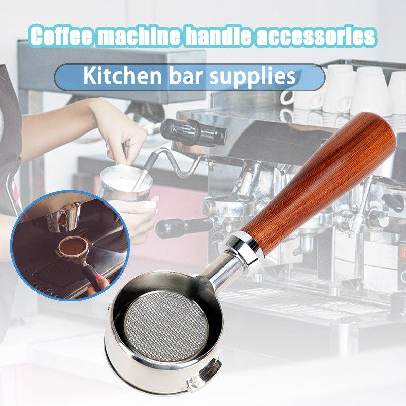 حار قهوة بدون قاع Portafilter ماكينة القهوة مقبض الخشب تصفية مستلزمات قهوة ل Welhome KD-310/KD-510 NDS