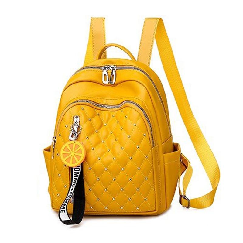 2021 Women Leather Backpacks High Quality Female Vintage Backpack For Girls School Bag Travel Bagpack Ladies Sac A Dos Back Pack