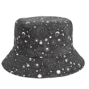 2021 Cotton four seasons starry sky print Bucket Hat Fisherman Hat outdoor travel cap for men and Women 324