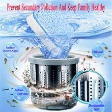 Pieza de limpieza de tanque de lavadora, pastillas efervescentes descalzas, detergente de descalcificación efectivo, accesorio de limpieza de cocina