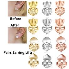 Fashion 14 Styles Hypoallergenic Earring Lifter Fits All Earlobe Stud Back Nut Lift Support Post Ear