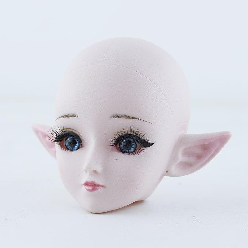Кукла-эльф 1/3 BJD, Обнаженная кукла для макияжа, аксессуары для кукол с 24 шариками, шарнирная кукла с синими/черными глазами, 60 см, детские игрушки для девочек