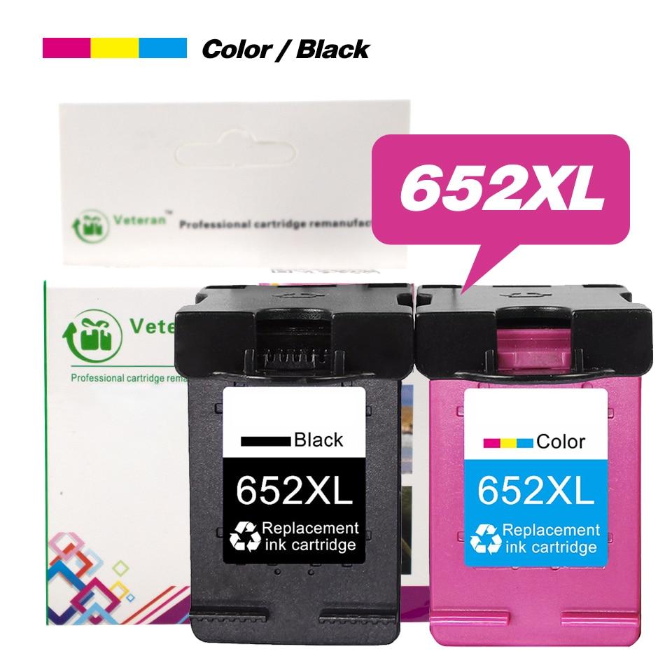652XL reemplazo de cartucho de tinta para 652XL 652 cartucho recargado para Deskjet serie 1115, 2135, 3835, 2675, 2676, 4675, 5075 impresora