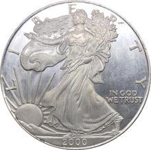 1 доллар США, американский Серебряный Орел, слиток, монета 2000 Вт, Посеребренная, памятная монета, копия монеты