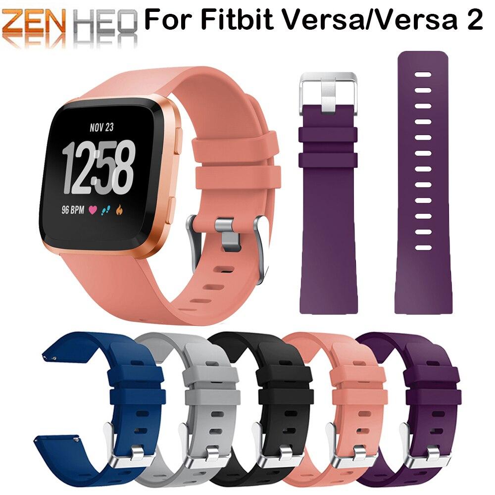 Banda ajustable de silicona suave de alta calidad para Fitbit Versa Lite/Versa 2 bandas pulsera Correa correa de reloj