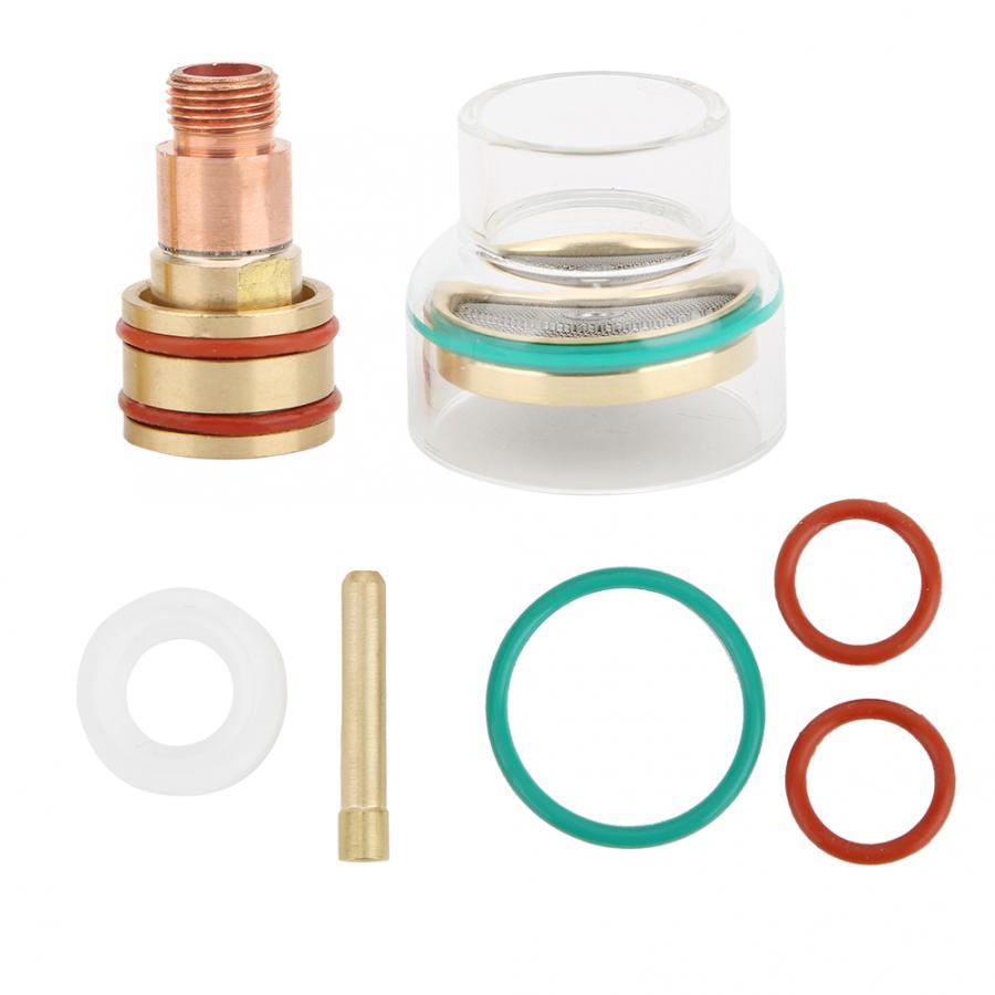 Copo de vidro tfm53ncn tig kit soldagem tocha copo vidro collet para wp17/wp18/wp26