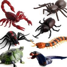 3D araignée cafard insectes créatifs faux serpent RC jouet blague insectes blague effrayant truc Bugs télécommande faux accessoires cadeaux de noël