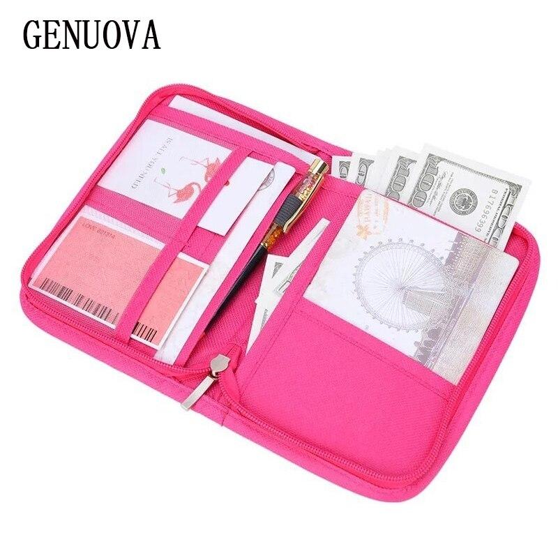 Viagem multi-função passaporte capa carteira para bilhetes titular do cartão de crédito bolsa documentos de identificação feminina pacote organizador de dinheiro