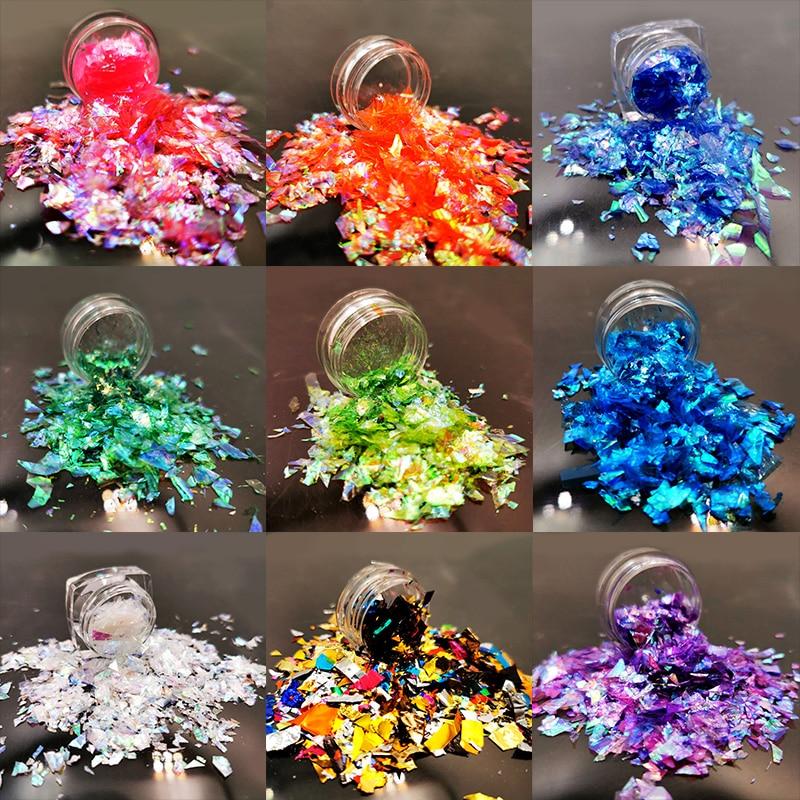 Escamas de lentejuelas de uñas irregulares coloridas de caramelo clase papel lentejuelas uñas artísticas DIY diseño decoración accesorio