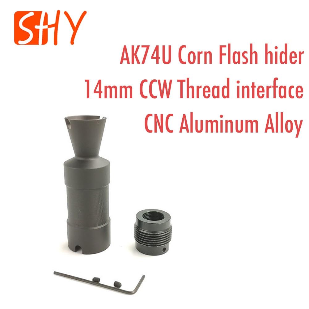 JinMing MST Water Gel Ball Blaster AEG Airsoft Toy Accessories 14MM CCW Thread AKS74U AK74U Corn Flash hider