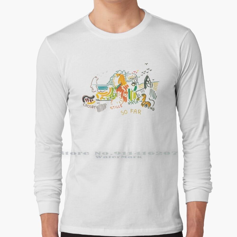 So Far T Shirt 100% Pure Cotton Crosby Stills Nash Young Music Album Record Vinyl Band Artist