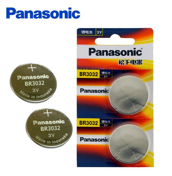2 шт./лот Panasonic BR3032 ECR3032 DL3032 3V кнопочный аккумулятор монета автомобильный пульт дистанционного управления электрические батареи сигнализаци...