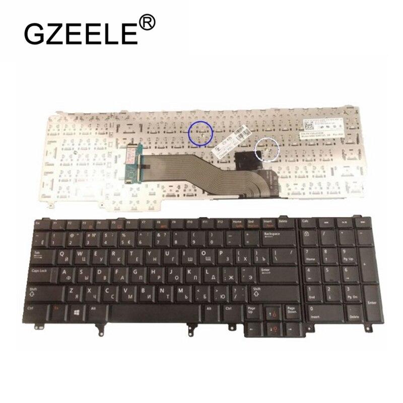 Русская версия RU Клавиатура для ноутбука Dell Latitude E6540 E6520 M4800 M6800 E5520M без точечной ручки с антиподсветкой