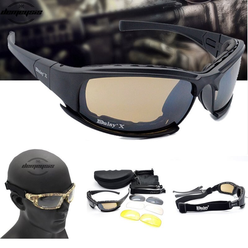 Army Goggles Sunglasses Men Military Sun Glasses 4 Lens Kit Men's War Game Tactical Glasses for Outd