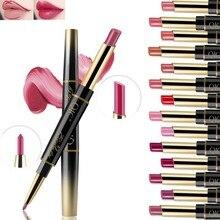 14 color matte double head lipstick lipstick waterproof lasting moisturizing lip liner velvet glossy pencil