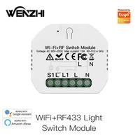 Module dinterrupteur lumineux  wi-fi RF 433 Mhz  minuterie dautomatisation  telecommande  application Smart Life Tuya  fonctionne avec Alexa Google Home Assistant