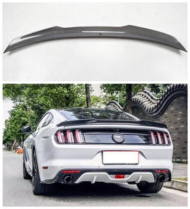 High quality Carbon Fiber Car Rear Trunk Lip Spoiler Wing Fits For Ford Mustang 2015 2016 2017 2018 2019 2020