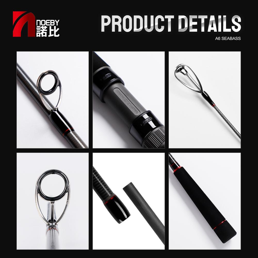 NOEBY INFINITE Fishing Rod 2.49m 2.7m 2.96m Long Spinning Casting for Seabass With FUJI Guide Rings Reel Seat Pesca Carbon enlarge