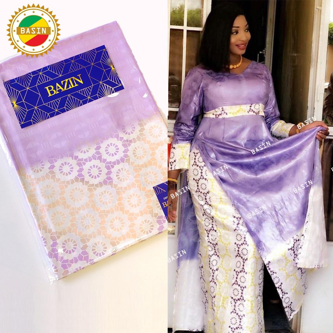 2021 Top Quality African Bazin Riche Getzner For Bride Or Bridesmaids Dresses Team Bazin Riche Jacqu