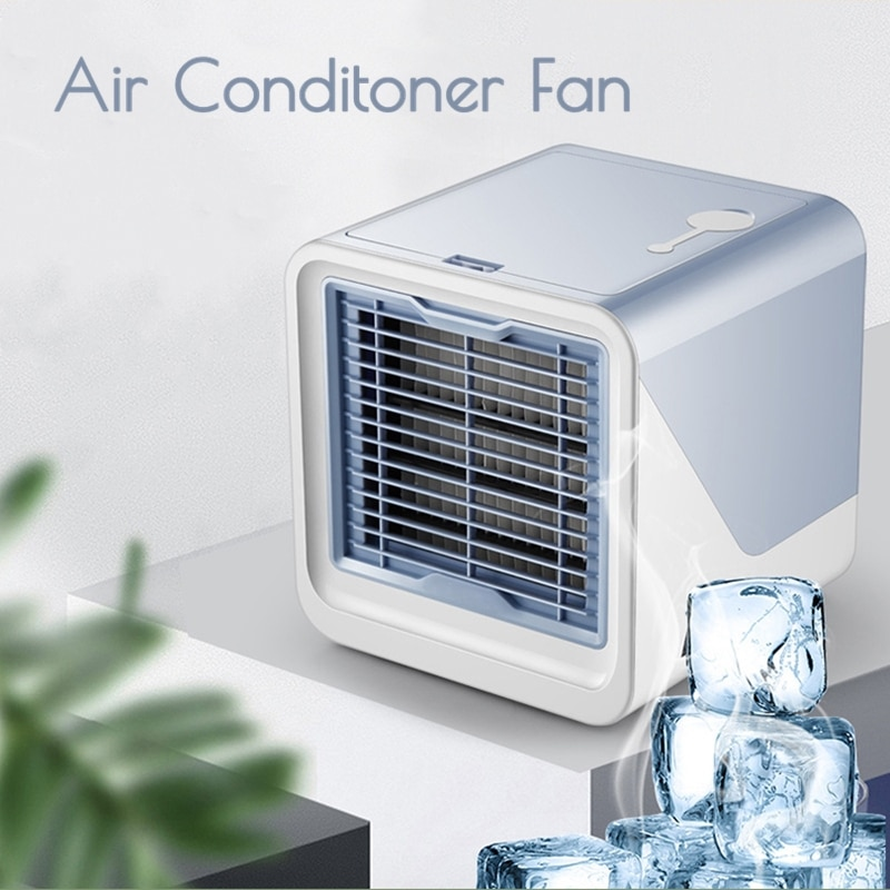 New Mini USB Air Cooler Portable Air Conditioner Humidifier Purifier Desktop Air Cooling Fan Air Cooler Fan for office Dropship