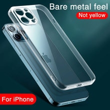 Clear Shockproof Silicone Phone Case on For iPhone 12 Pro 12 Mini 12 Pro Max Lens Protection Cases i