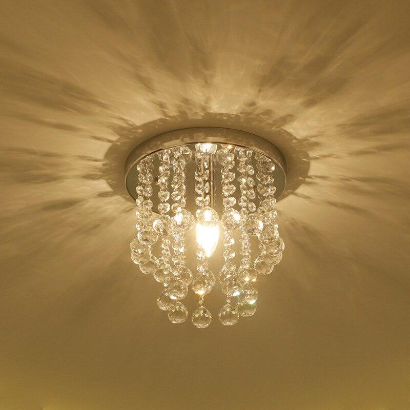 lampada do teto de cristal do corredor quarto foyer varanda corredor lampadas criativas
