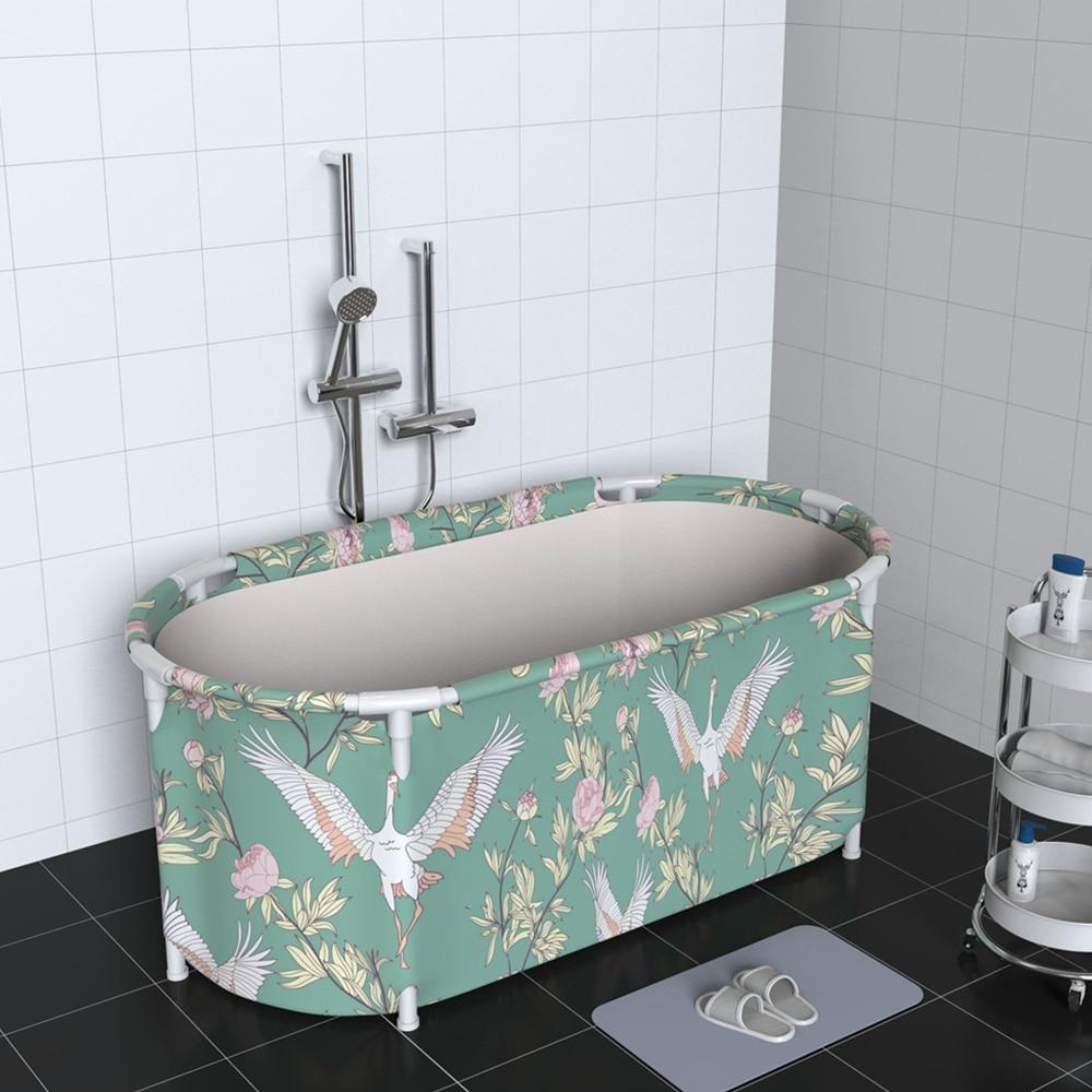 Nordic Foldable Bathtub Portable Waterproof Thickened Adult Family Spa Bathtubs Large Size Household Full Body Bathing Bucket enlarge