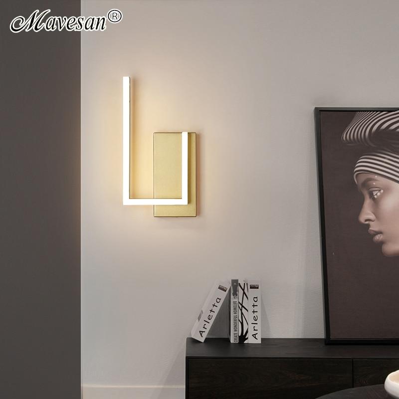 الشمال الفاخرة أدى الجدار أضواء القهوة/الذهب ل السرير تخزين غرفة مطبخ Studyroom داخلي ديكور المنزل الشمعدان ل AC90-260V