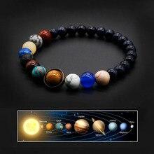 2020 Universe Solar System Bracelet Women Natural Stone Eight Planets Bracelet Men Best Friends Gift For Him Gift For Her MY8