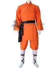 Enfants adultes Orange coton Shaolin moine Kung fu Robe arts martiaux costume Tai chi aile Chun uniformes