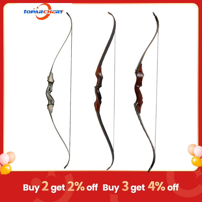 Archery Wood Bow Takedown Hunting Bow 30-60lbs 58inch Laminated Wooden Recurve Bow and Arrow Shooting Equipment for Outdoor
