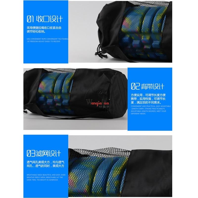 Best! Yoga Mat Storage Mesh Bag Nylon Adjustable Strap Drawstring Bags Carrier Gym Tool For Foam Roller Environmental Protection