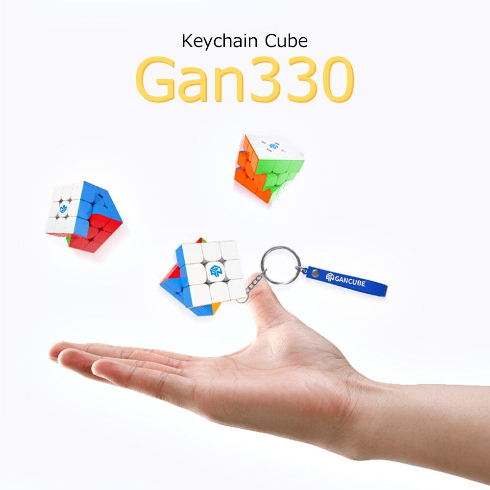 GAN330 3x3 keychain cube magic cube GAN 330 3x3x3 mini cube puzzle pocket speed cube 3x3 gans toys for children