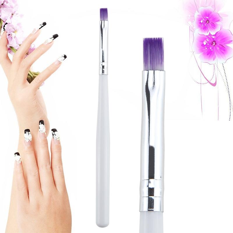 1PC cepillo de uñas dibujo en Gel UV pincel para pintar uñas arte cepillo herramienta DIY de manicura gradiente púrpura Color cepillo de mango TXTB1