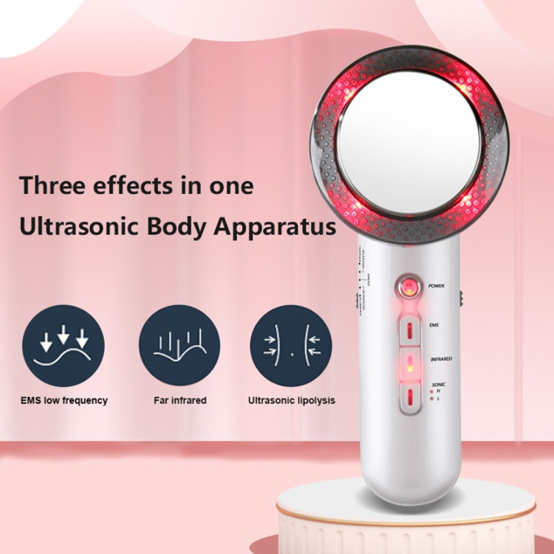 3-in-1 Slimming Machine Far Infrared LED Ultrasonic Fat Exploding Instrument Body Weight Loss Massager EMS Beauty Instrument Spa