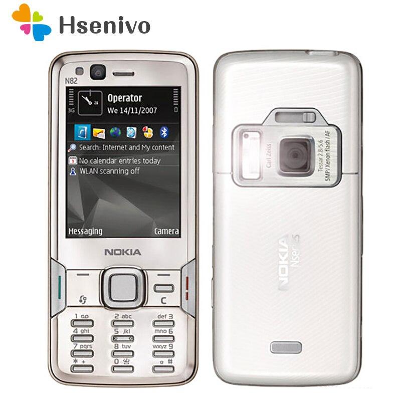 Перейти на Алиэкспресс и купить Nokia N82 Восстановленный Оригинальный Nokia N82 GSM 3G Bluetooth WIFI 5MP камера FM радио 2,4 дюймовый сотовый телефон Бесплатная доставка
