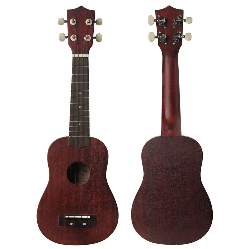 21 Inch Ukulele Sapele Soprano Ukulele Wine Red 4 Strings Hawaiian Guitar Beginner Kids Musical Instrument Gift Mini Guitarra