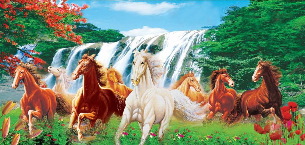 "5D DIY diamond embroidery ""Horse/waterfall ""diamond painting Cross Stitch Rhinestone mosaic home decoration CNN"