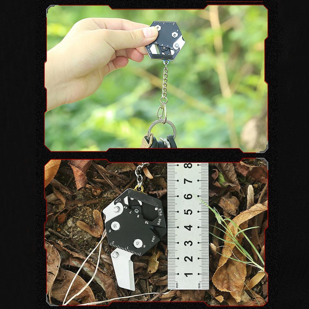 Купить с кэшбэком Portable Outdoor 15 in 1Mini-coin EDC Screwdriver Multifunctional Walkman Tool Emergency Survival Practical Tools Hot In Sale