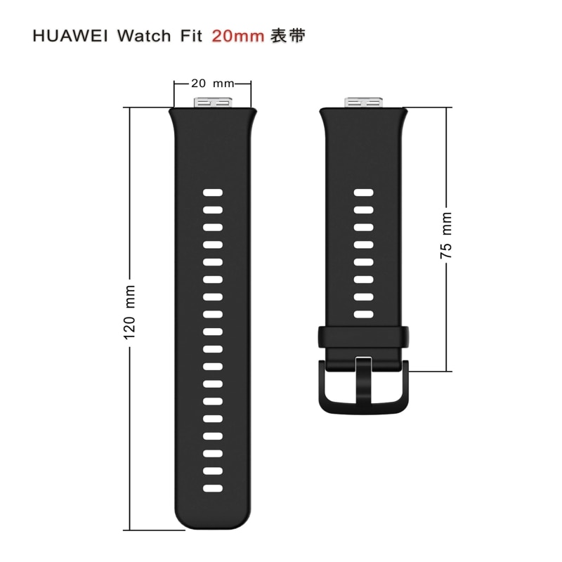Купить с кэшбэком Rubber Strap for Huawei Watch Fit Smart Wristband Bracelet Accessories High Quality Replacement Sport Watch Band