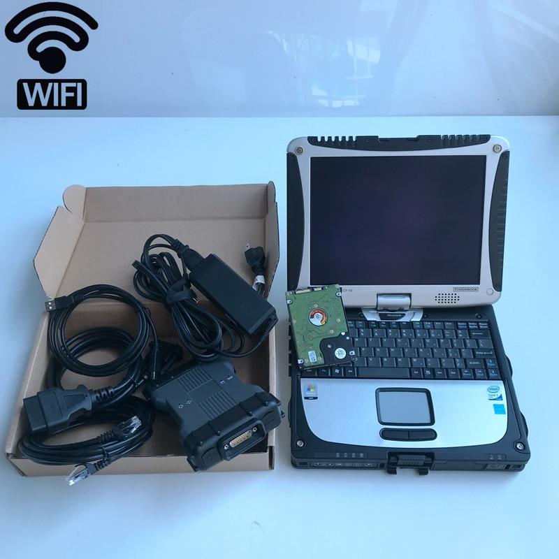Mb star c6 sd conectar compacto con software ssd 12/2019 herramienta de diagnóstico wifi con 4g cf-19 ordenador portátil hdd conjunto completo listo para funcionar