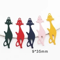 50pcs pure copper brass flat cats filigree stampe charms cute animal cat earring making pendant free shipping