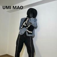 UMI MAO Dark Wind Denim Jean Jacket Korean Style Men\'s Women\'s Same Style Fashion Trendy Men Chaquetas Para Mujer
