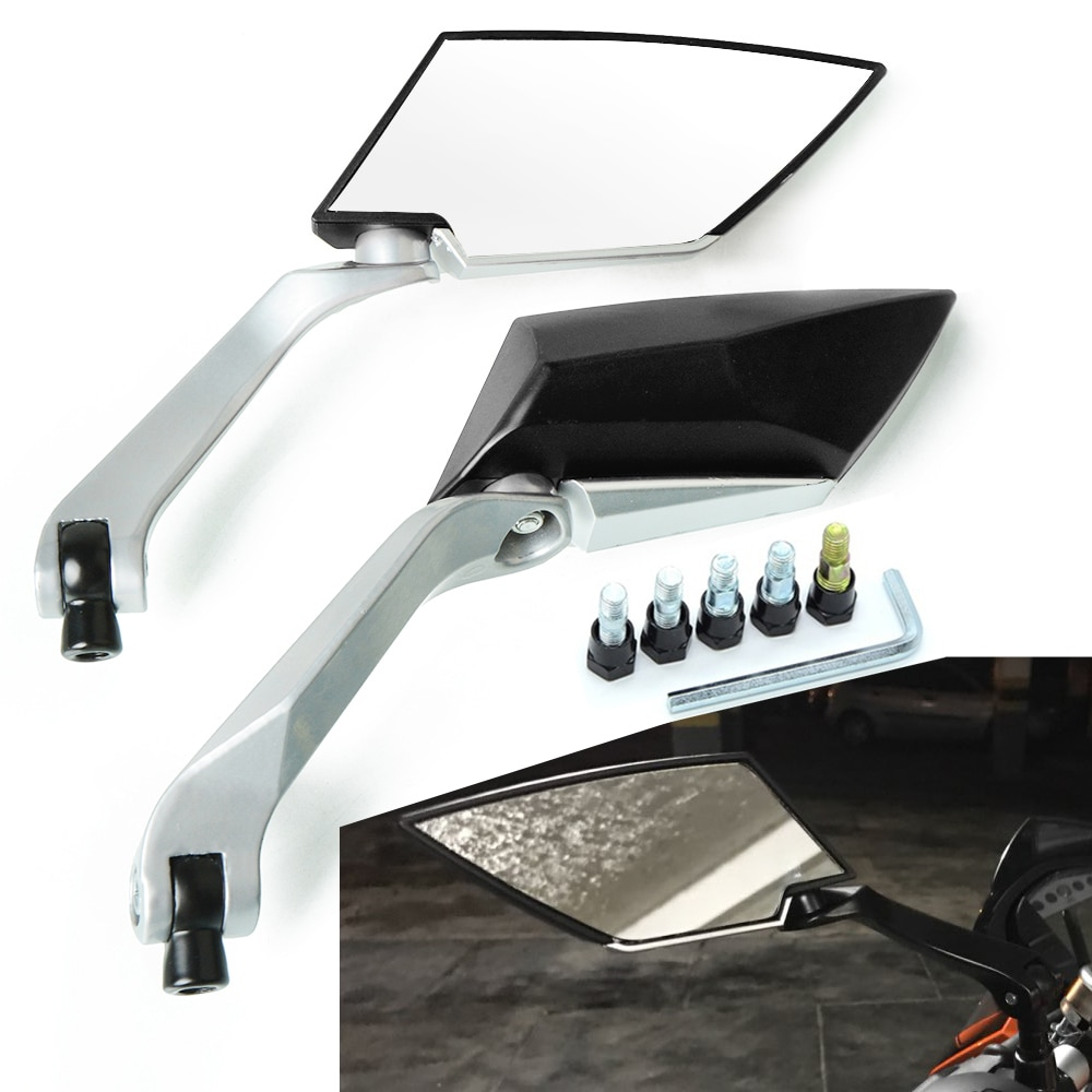8MM 10MM de la motocicleta espejo lateral espejos para Honda CB400 600, 900 de 1000 CB300F CB125R VTR250 CB600F CB919 CB190R espejo retrovisor