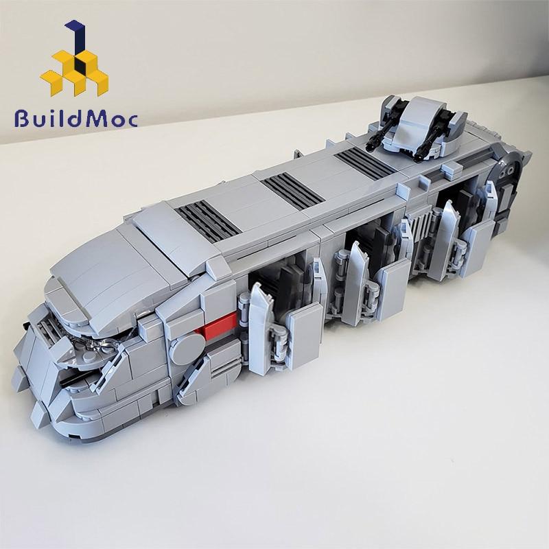 Buildmoc-شخصيات الحركة العامة لفيلم Star Robot ، لعبة Clone Trooper Imperial ، سفينة حربية نقل الفضاء ، هدية