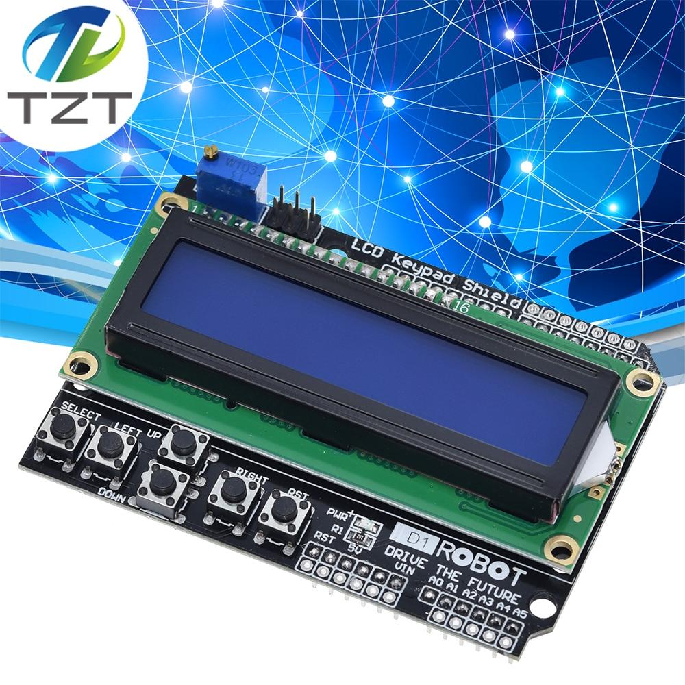LCD1602 LCD Keypad Shield LCD 1602 Module Display For Arduino ATMEGA328 ATMEGA2560 raspberry pi UNO blue screen