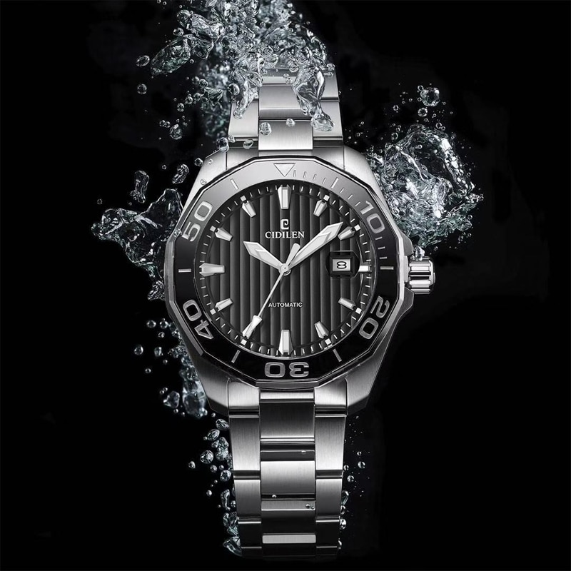 New Automatic Watch for Men Mechanical Wristwatches 43mm Watches Mens 2021 316l Titanium Steel Divers Watch Sapphire Glass